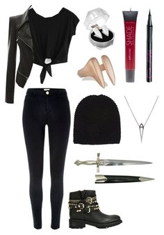 """Modern Vampire"" by fashion4life11 ❤ liked on Polyvore featuring River Island, Katie Rowland, Lane Bryant, Barry M, Wommelsdorff, Eva Fehren, Ash and modern"