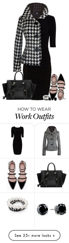 """Fall Flat"" featuring moda, Alice + Olivia, Zara, Kenneth Jay Lane ve CZ by Kenneth Jay Lane Business Outfits, Office Outfits, Work Outfits, Office Fashion, Work Fashion, Style Board, How To Have Style, Mein Style, Looks Black"