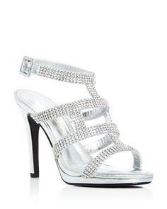 Caparros Elyzabeth Metallic Embellished Strappy Sandals