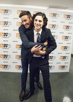 Armie Hammer and Timothée Chalamet at the 55th New York Film Festival.