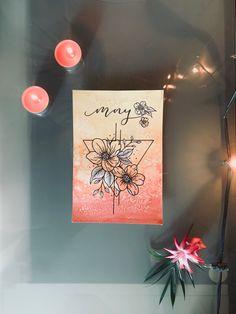 Watercolor Flower Geometric Painting Geometric Painting, Journal Pages, Watercolor Flowers, Gallery Wall, Bullet Journal, Frame, Inspiration, Decor, Art