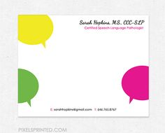 16 best speech language pathologist business cards and stationery specifications note cards printed on 14 p find this pin and more on speech language pathologist business colourmoves