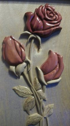Intarsia Roses by ScrollingLumberjack on Etsy