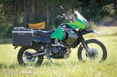 MotoUSA spent a few days riding and testing a 2015 Kawasaki KLR 650 modified by Touratech for improved performance in the adventure world of motorcycle ridin. Kawasaki Motorcycles, Cars And Motorcycles, Camping Gear, Tent Camping, Camping Hacks, Klr 650, Adventure World, Dual Sport, Dirtbikes