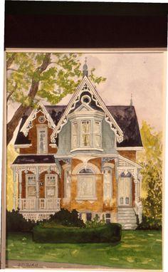Cabbagetown Victorian, Toronto Watercolour: Debora Booth Alcide