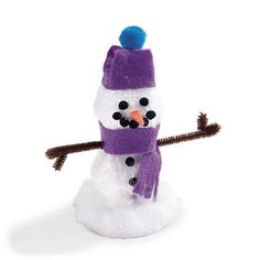 Sparkly Snowman How To Make.
