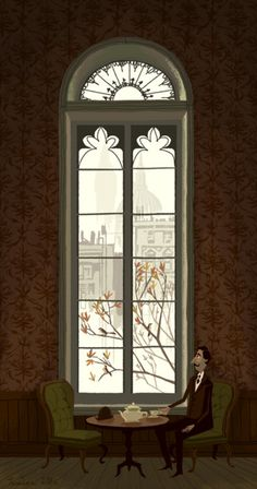 San Francisco, by Fleet Street Scandal (Kevin Dart and Chris Turnham) Art Et Illustration, Through The Window, Illustrations Posters, Art Inspo, Illustrators, Concept Art, Art Photography, Windows, Drawings
