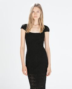 Image 2 of FORM-FITTING GUIPURE DRESS from Zara