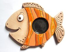 Clay Wall Art, Clay Art, Pottery Bowls, Ceramic Pottery, Clay Faces, Pottery Designs, Air Dry Clay, Sculpture Clay, Fish Art