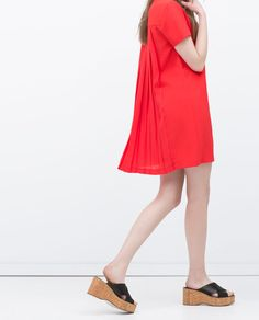 Image 3 of BACK PLEATED DRESS from Zara