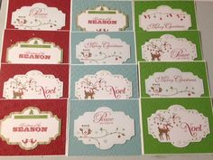 Used the Snow Festival Printed tags from Stampin'Up!