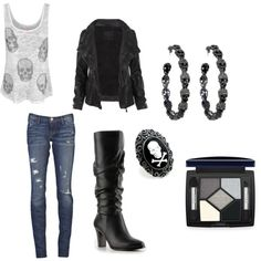 Vestito rocker - E and c here comes the weekend - Motociclisti Date Outfits, Fashion Outfits, Womens Fashion, Tomboy Outfits, Emo Fashion, Fashion Tips, Concert Wear, Rock And Roll Fashion, Rocker Outfit