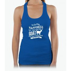 Happiness Goats T-Shirt Design Womens Tank Top