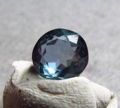 1.75 ct Natural Montana Sapphire Untreated Gem 7.8 mm Round Blue El Dorado Bar #Jewelsroughgems