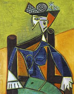 View Femme assise dans un fauteuil by Pablo Picasso on artnet. Browse upcoming and past auction lots by Pablo Picasso. Pablo Picasso, Kunst Picasso, Art Picasso, Picasso Paintings, Cubist Movement, Inspiration Art, Art Auction, Oeuvre D'art, Art History