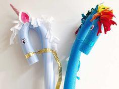 Een soort stokpaard, maar dan in de vorm van een My Little Pony of unicorn! De eenhoorn knutselen is makkelijk, leuk voor een kinderfeestje!