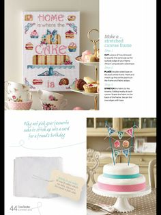 Have Your Cake CrossStitcher  Issue 281 August 2014 Zinio Saved