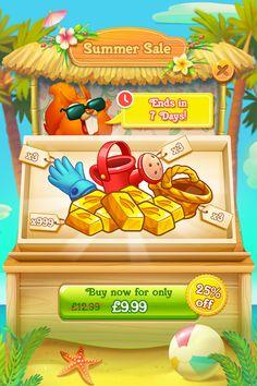 a match 3 social game which is a sequel to Farm Heroes Saga. Game Ui Design, Menu Design, Coin Icon, Pizza Games, Graffiti Cartoons, Game Gui, Social Games, Match 3, Game Concept Art
