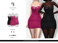 Cut Out Bust Tie Ruched Mini Dress - Sims 4 Updates -♦- Sims 4 Finds & Sims 4 Must Haves -♦-