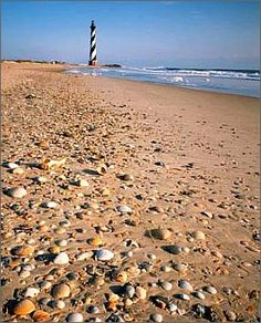 Hatteras Lighthouse on the beach. #OBX