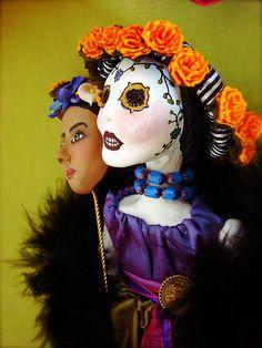Hidden behind the Dia de los Muertos Frida.