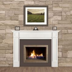 Spotlight your home's hearth with the Pearl Mantels The Marshall Fireplace Mantel Shelf . With a timeless white finish and classic design, this. White Fireplace Mantels, Fireplace Mantel Surrounds, Fireplace Shelves, Wood Mantels, Mantel Shelf, Fireplace Remodel, Fireplace Inserts, Fireplace Design, Fireplace Ideas
