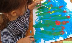 Painting a Meadow - Day 1 of Creativity and Art Series. | Montessori Nature