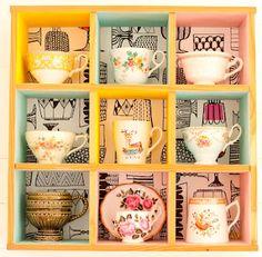 Tea cup shelving