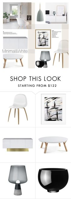 """Minimal White"" by helenevlacho ❤ liked on Polyvore featuring interior, interiors, interior design, home, home decor, interior decorating, Gubi, Worlds Away, iittala and Georg Jensen"
