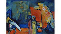 Improvisation Nr 2, Trauermarsch, Wassily Kandinsky, 1908