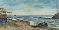 Marinha de Itanhaem. Anos 1930. Alfredo Volpi (1896-1988). Pintor ítalo-brasileiro.