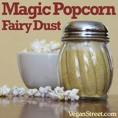 Magic Popcorn Fairy Dust - Omit oil and use water to spritz.low FODMAP, omit onion and garlic, use chili powder, smoked paprika , salt and possibly cumin. Vegan Popcorn, Cheese Popcorn, Popcorn Snacks, Flavored Popcorn, Popcorn Toppings, Gourmet Popcorn, Popcorn Oil, Nutritional Yeast Popcorn, Nutritional Yeast Recipes