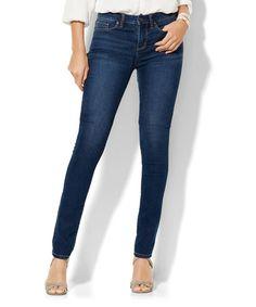 Look at this #zulilyfind! Dark Tide City Slim High-Waist Skinny Jeans - Petite Too by New York