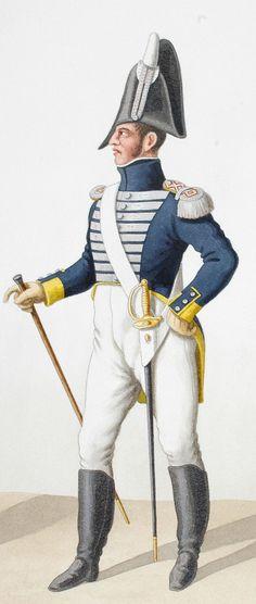 1816. Garde Royale. Infanterie (3e Régiment). Fusilier, Adjudant.