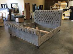 Santa Barbara Collection | Custom Upholstered Sleigh Bed 12060