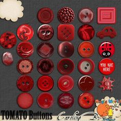 A Tomato Color Series Buttons A Tomato Color Series Buttons - $2.99 : Caroline B., My Magic World of Digital Design