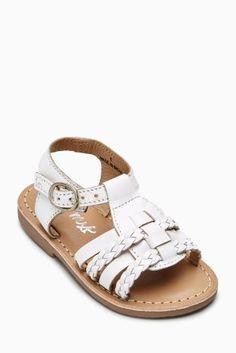 White Gladiator Sandals (Younger Girls)