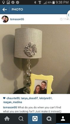 Home made flower for my lamp!