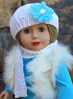 Our 18 inch Cadence Rose looks beautiful in this winter fashion for American Girl Dolls, available at www.harmonyclubdolls.com