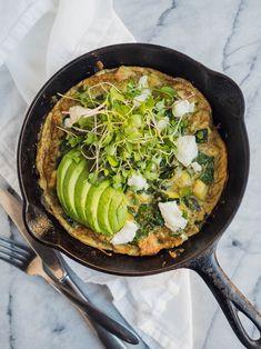Super Greens Frittata | The Kitchen Paper