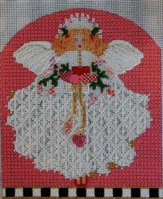 needlepoint,  melissa shirley monthly angel