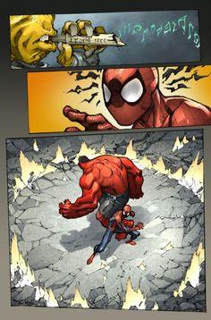 Avenging Spider-Man color pg 4//Joe Madureira/M/ Comic Art Community GALLERY OF COMIC ART