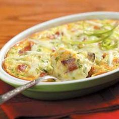 Jack Cheese Oven Omelet Recipe from Taste of Home -- shared by Laurel Roberts of Vancouver, Washington Breakfast Items, Breakfast Dishes, Breakfast Casserole, Breakfast Recipes, Breakfast Omelette, Brunch Dishes, Morning Breakfast, Egg Recipes, Brunch Recipes
