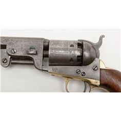 1851 Colt, .36 caliber percussion Navy revolver with U.S. martial markings and inspections, serial