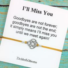 I'll Miss YOU! Going away gift ideas by themindfulmanateeYou can find Going away gifts and more on our website.I'll Miss YOU! Going away gift ideas by themindfulmanatee