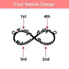Buy Personalized Infinity Family Name Necklace Sterling Silver for your lover, friends, family, or any cherished and loved one. Place order with special discount! Single Diamond Necklace, Diamond Solitaire Necklace, Infinity Necklace, Stone Necklace, Infinity Jewelry, Meaningful Necklace, Meaningful Gifts, Anniversary Jewelry, Letter Necklace