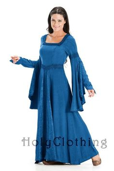 This is such a beautiful dress. It is an Arwen Square Neck Renaissance Medieval Princess Gown Dress and can be found on Holy Clothes. The three colors I love are Blue Divine, Sage Green, and Purple Passion. Please consult with Grandma about it unless you are Grandma, in which case, you already know what you're thinking. Also, it needs to be in large.