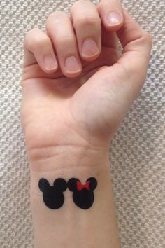 Wear them together or share them with the Mickey to your Minnie <3 Package includes 3 sets of Mickey and Minnie tattoos and directions for application. Tattoos typically last 2-7 days depending on car