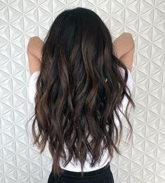 Home hair cuts Miracle Brown Hair Balayage, Hair Highlights, Ombre Hair, Color Highlights, Hair Color For Black Hair, Cool Hair Color, Brown Hair Colors, Dark Brunette Hair, Dark Hair