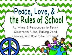 Kick+off+your+year+on+a+peaceful+note+with+this+unit+of+activities+about+rules,+making+good+choices,+and+being+a+good+friend!++This+is+perfect+to+implement+during+the+beginning+of+the+school+year,+but+could+be+used+for+reinforcement+year-round.+It+teaches,+celebrates,+and+reinforces+respect,+kindness,+peace,+and+friendship!+:)+Printable+activities+are+included,+as+well+as+resources+you+can+use+year-round+such+as+tickets+and+award+certificates!Included:*___________+Can+Follow+the+Rules+Book.